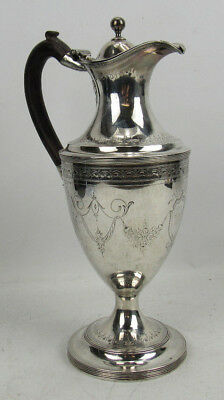 18th C Antique Sterling Silver Wine Ewer Peter & Ann Bateman 1793 25 Toz