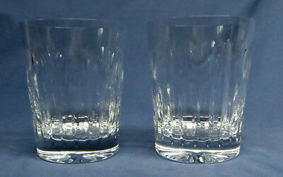 Pair of Waterford Crystal Millennium Old Fashion Drinking Glasses Love Pattern