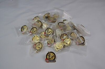 2005 Wisconsin Ducks Unlimited Pin Lot of 32 sealed in original bags.