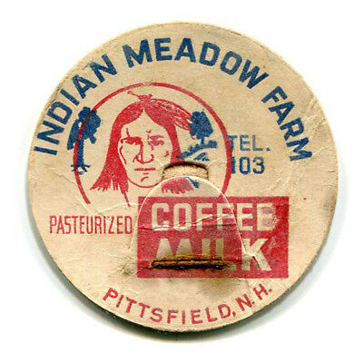 Indian Meadow Farm Dairy Pittsfield NH Milk Bottle Cap Merrimack New Hampshire