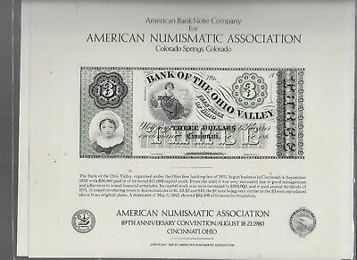 American Bank Note Co.'s Souvenir Card for the 89th (1979) ANA Convention
