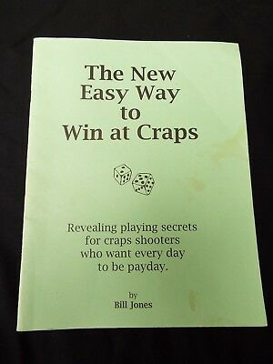 THE NEW EASY WAY TO WIN AT CRAPS by Bill Jones - Casino Strategy Dice Guide RARE