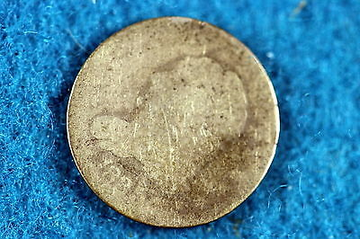 ESTATE FIND 1835 CAPPED BUST HALF DIME, Large Date & Small 5 Cent!! #C5888