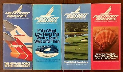 Piedmont Airlines 4 System Timetables 1986-87