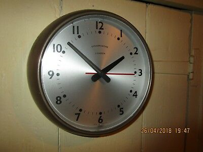 Vintage / Retro 1960s era Synchronome Wall Clock . Synchronome Electric Clock