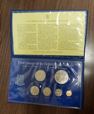 First Coinage of the British Virgin Islands 1973 6 Piece Specimen Set