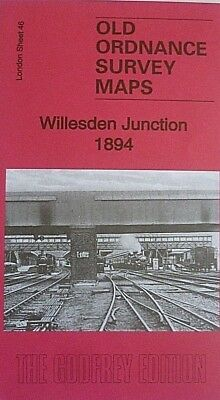 OLD Ordnance Survey Maps Willesden Junction  London 1894 Godfrey Edition New