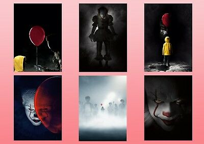 Stephen King   IT  2017 PENNYWISE the Dancing Clown A5 A4 A3 Textless Posters