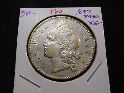 T60 Dominican Republic 1897 Peso XF