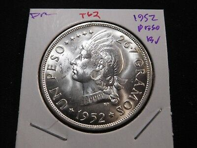T62 Dominican Republic 1952 Peso BU