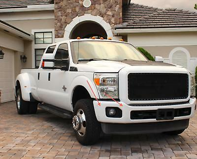2011 Ford F-250 Leather 2011 FORD F350 4X4 XL Superduty Crew Cab 6.7  Diesel White Gray Leather Seats