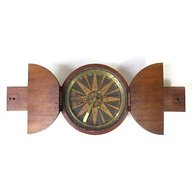 """Early Antique Browning Boston Maker Wooden Long Big Unique COMPASS 15"""""""
