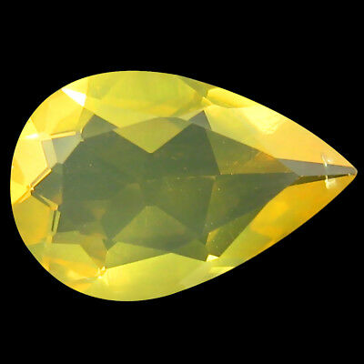 1.51 ct Incredible Pear Cut (12 x 8 mm) Un-Heated Yellow Orange Fire Opal
