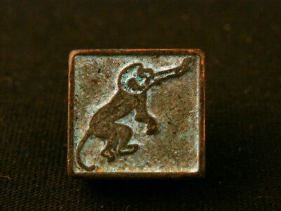 Fine Chinese Bronze *Monkey* Small Seal Pendant Y093