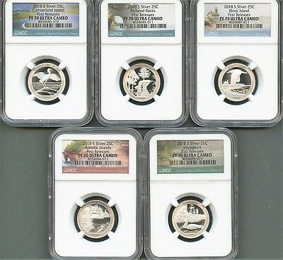 2018 S Silver Quarter Set First Releases NGC PF70 Ultra Cameo