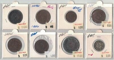Japan 8 coins from 1877 in clearance