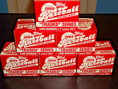 1989 Topps Traded Baseball Set #1-132T Gem Mint From Case Griffey Jr Rookie
