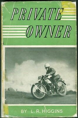 Private Owner L R Higgins Motorcycle Racing Book 1929-1947 Manx Norton Gilera