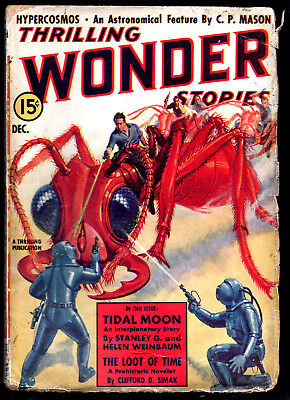 THRILLING WONDER STORIES:Dec.1936-Clifford Simak,Henry Kuttner,Ray Cummings