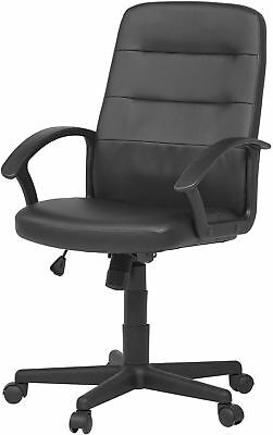 NEW Tesco Avery Leather Effect Office Chair with Arm Rests - Black