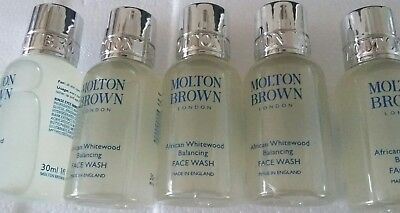 Wow!! Molton Brown Men's African Whitewood Balancing Face Wash 150ml 5 x 30ml