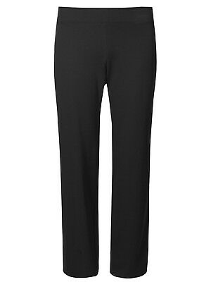M/&S WOMAN BLACK JOGGERS COTTON RICH with STRETCH SIZE 18 LONG BNWT