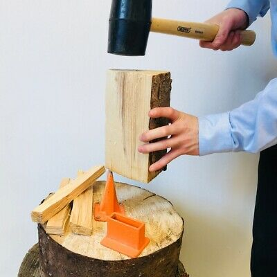 Smart Log Splitter Base Blade Manual Kindling Hatchet Cutter Axe Wood Chopper