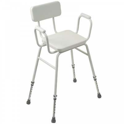 GRADED Malling Perching Stool Adjustable height with Padded Arms and Padded Back
