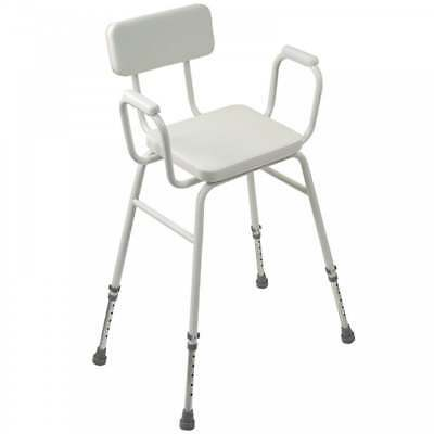 Malling Perching Stool Adjustable height with Padded Arms and Padded Back GRADED