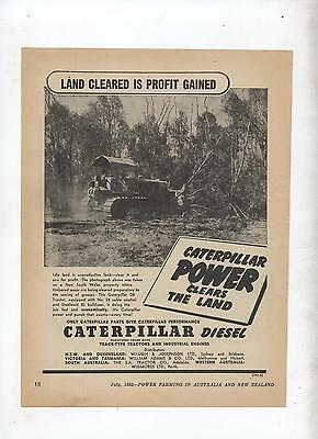 Caterpillar D8 Tractor Advertisement removed from 1952 Farming Magazine