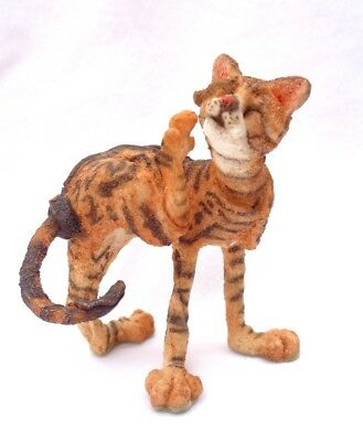 """A BREED APART CAT. authentic retired. """"TICKLE"""" Border Fine Arts . TABBY CAT. !!!"""