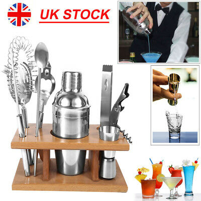 8Pcs Stainless Steel Cocktail Shaker Sets Bar Drink Mixer Bartender Accessories