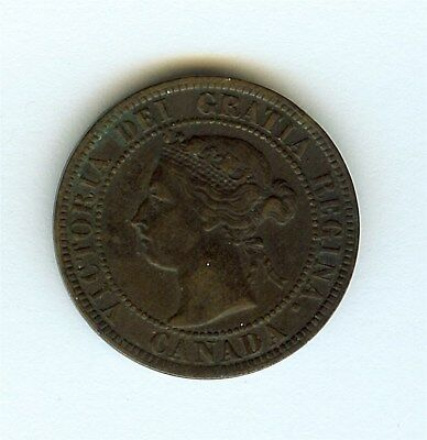 Canada 1893 Large Cent  About Uncirculated