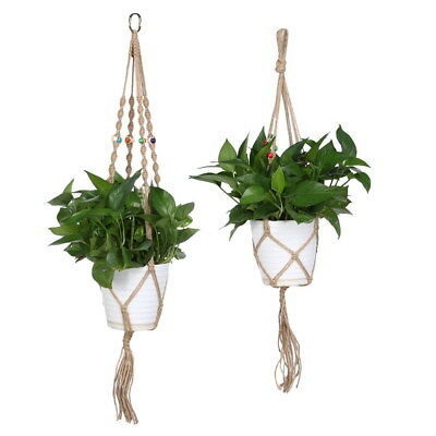 Plant Hanger Flowerpot Holder Gardenpot Lifting Rope String WT7n