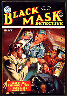 BLACK MASK DETECTIVE:U.K.Ed.March 1953-HI GRADE!-Craig Rice & Mark Hope,