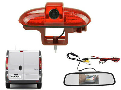 Reversing Camera Kit and Mirror Monitor Suitable For Vauxhall Vivaro 2001 - 2014