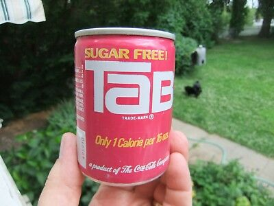 8 oz Shorty TAB Sugar Free Soda Can Bottled by Pacific Coca-Cola Co Bellevue WA