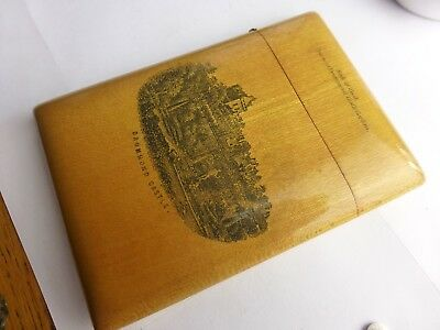 Antique mauchline  calling card case  Crieff & Drummond castle