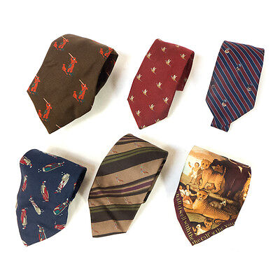 #02 Mixed Lot of 6 Vintage Men's Dresswear Colors, Striped Patterned Ties