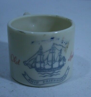 Vintage OLD SPICE Collectible MUG Early American Ivory w/ Ship decor on one side