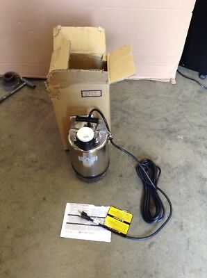 LITTLE GIANT Franklin Electric Submersible FS-750 SS Utility Sump Pump, 1 HP