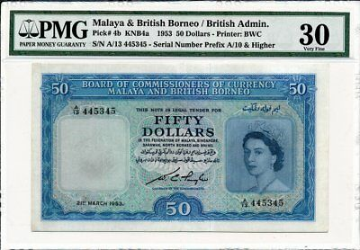 British Administration Malaya and British Borneo  50 1953 looklike EF PMG  30