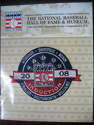 MLB Official Hall of Fame Inductee Patch 2008