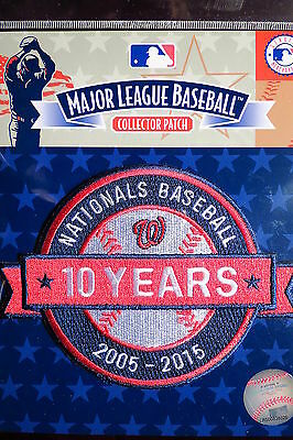 MLB Official Authentic Washington Nationals 10th Anniversary Patch 2015