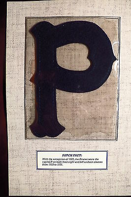 Willabee Ward 1927 Pittsburgh Pirates P Sleeve Patch
