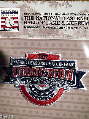 MLB Hall of Fame Induction Patch 2017 Bagwell,Raines,Rodriguez,Selig,Schuerholz