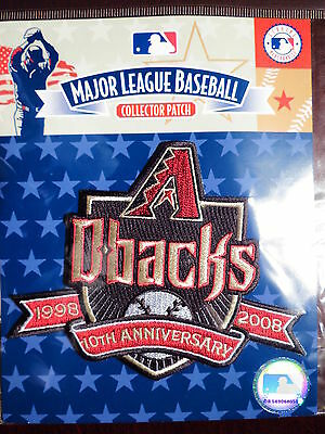 MLB Arizona Diamondbacks 10th Anniversary Patch 2008