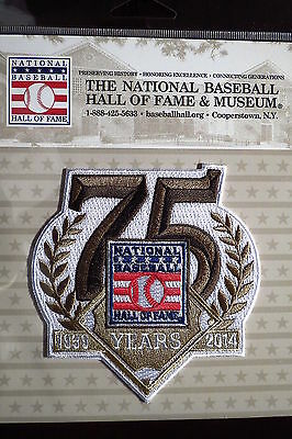 Official MLB Hall of Fame 75th Anniversary Patch 2014