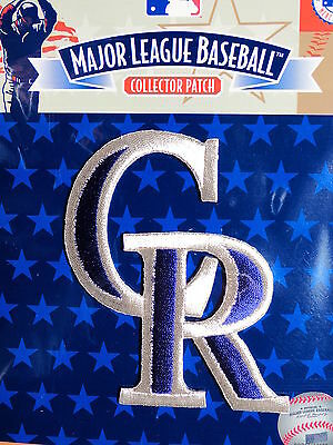 "MLB Official Authentic Colorado Rockies ""CR"" Team Emblem Patch"
