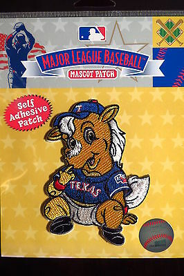 MLB Texas Rangers Baby Mascot Patch - Sticky Backing 2014